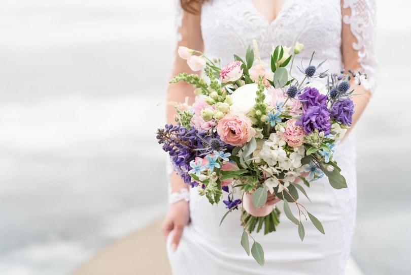 Black Sheep Gardens Spring Wedding Boquet for Lake Placid Wedding