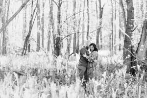 Adirondack woods engagment session