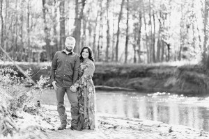 Black and White ADK Engagement Session