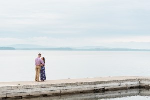 Couple on Dock in Essex NY