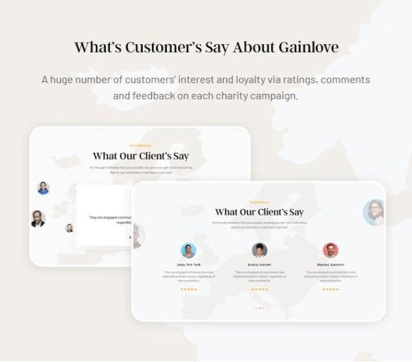 Gainlove Nonprofit WordPress Theme - Customer's Review