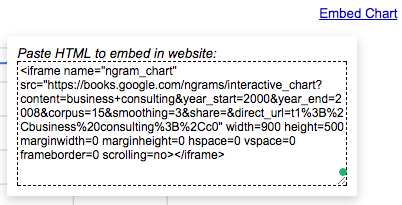 embed google data studio like ngram