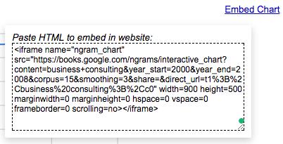 embed google data studio like ngram