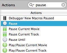 Finding pause in keyboard maestro