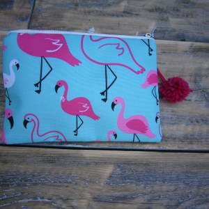 Flamingo make-up tasje