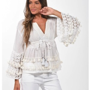 Jessie ibiza top.- wit