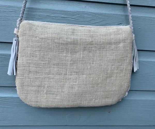 Handmade-Bohemian Tasje met muntjes Wit.