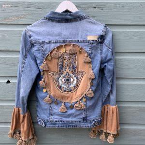 Bohemian jacket Fatima-hand -handmade. maat XS