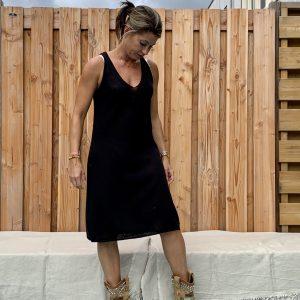 Onderjurk , basic lange top.- one size.