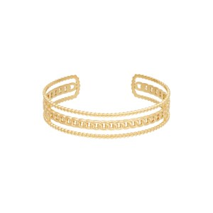 Armband Triple Chains Stainless steel – Goud kleur.