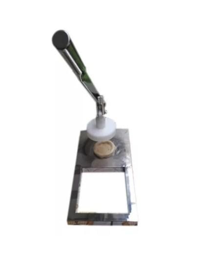 Prensa Modeladora de Esfiha 100% INOX |  Com 1 Molde + 3 bandeijas giratórias