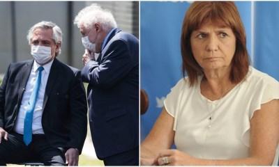 Alberto Fernández, Ginés González García, Patricia Bullrich