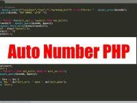 ตย. การสร้าง auto number ด้วยภาษา PHP Mysqli พร้อมฐานข้อมูล