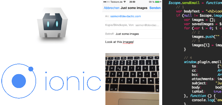 How to Send Emails with Attachments in Ionic