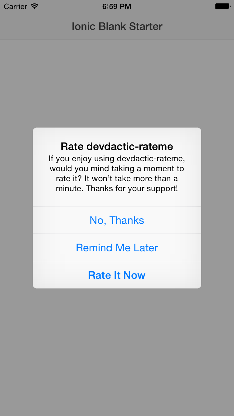 How to get 'Rate My App' to Increase Appstore Ratings with Ionic