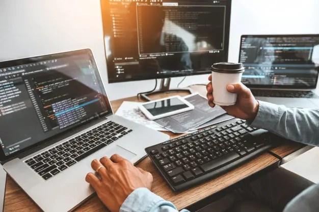 developing programmer development website design coding technologies working software company office 18497 1234