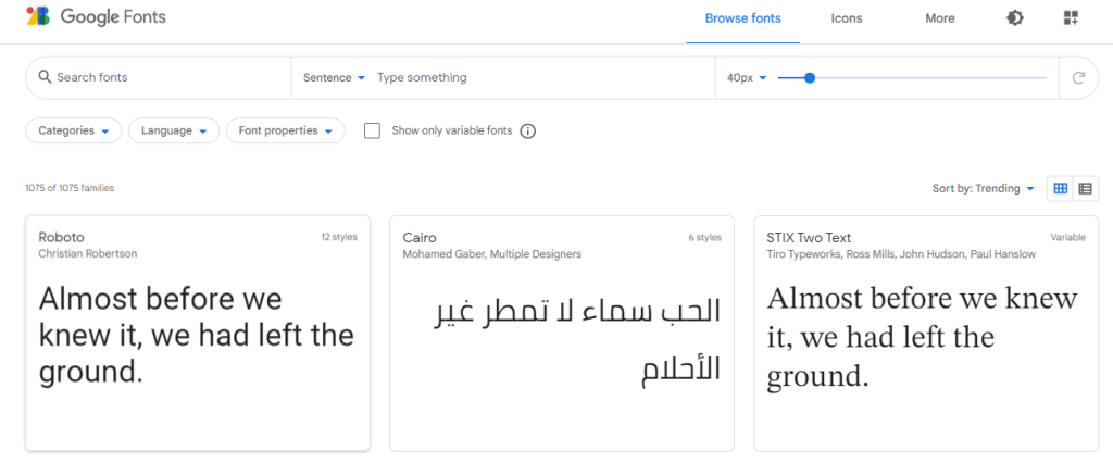 add google fonts to CSS