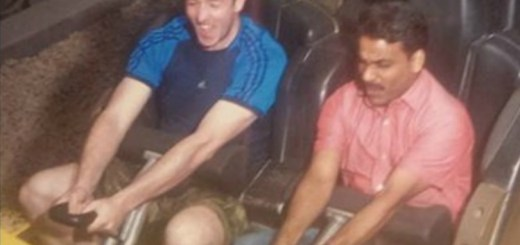 Awesome Guy takes his taxi driver to theme park, because he never visited one