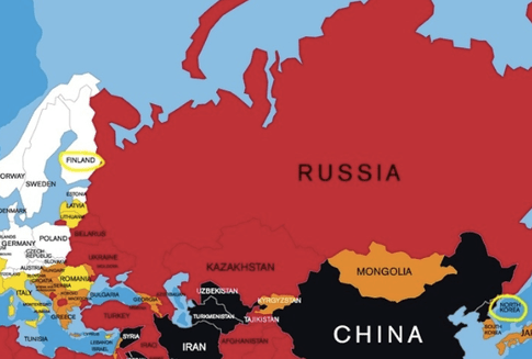 North Korea and Finland are separated by only one country
