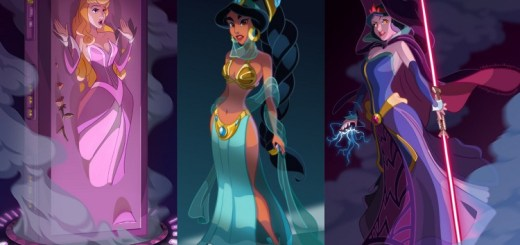 Take a look at what happens when the Disney princesses get a Star Wars style make-over!