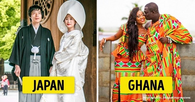These are some traditional wedding dresses around the world