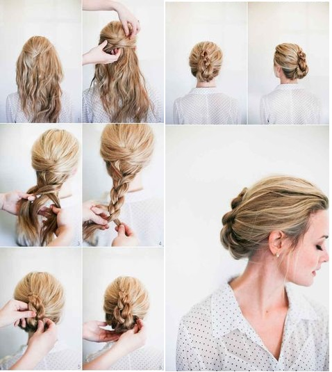 French Braid With Twisted Knot