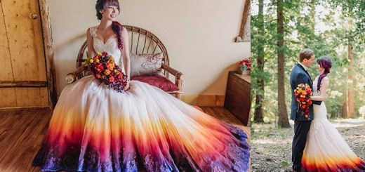 These dip dye wedding dresses are your #weddingoals2016