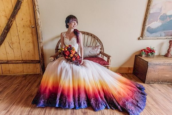 dip dye dresses for wedding