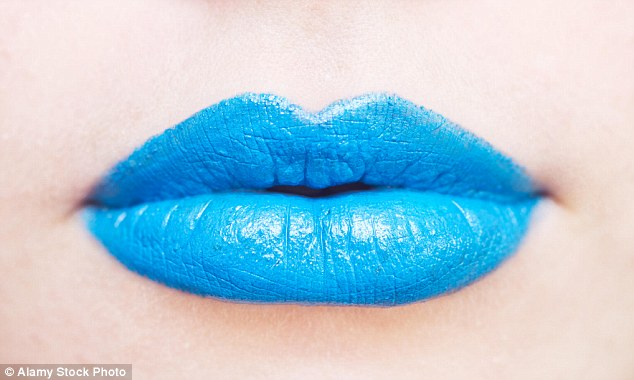 What do blue colored lips mean