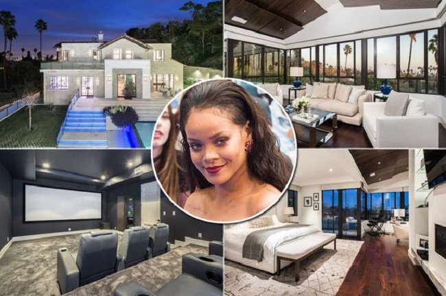 Rihanna has rented more than three luxury estates