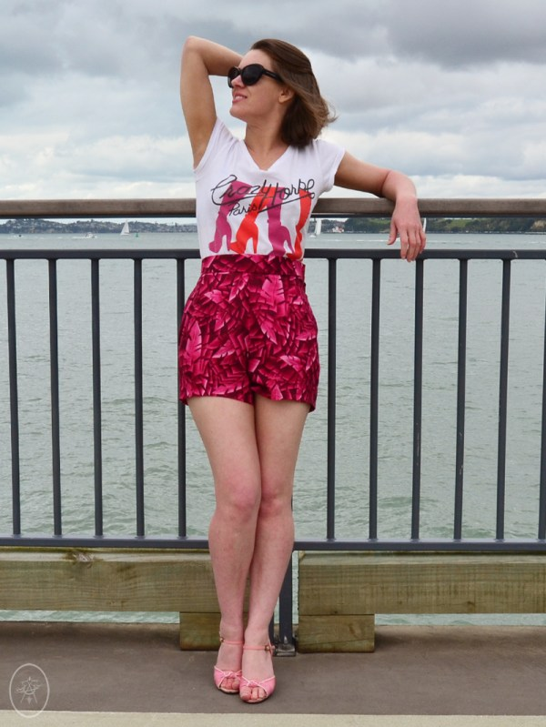 The Poolside Shorts in Pink Palms | Devel Women