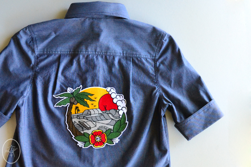 Rosie Shirt with Chicks In Bowls Back Patch