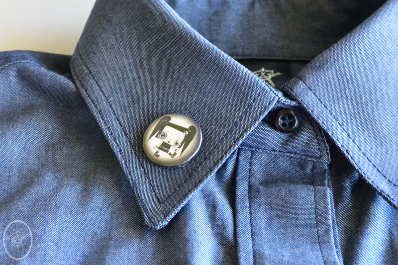 Rosie Shirt with Misery Lapel Pin