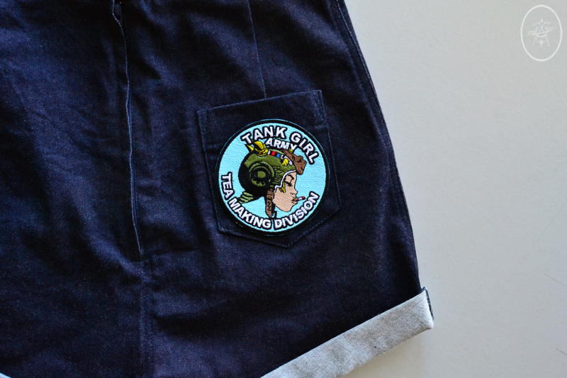 Pinup Shorts with Tank Girl Bum Patch