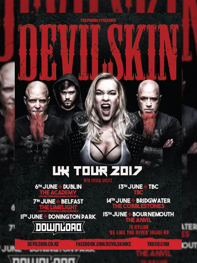 Devilskin UK Tour 2017 Poster