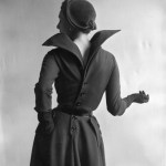 Wool Dress with Statement Collar and Button-Down Back by Dior 1948