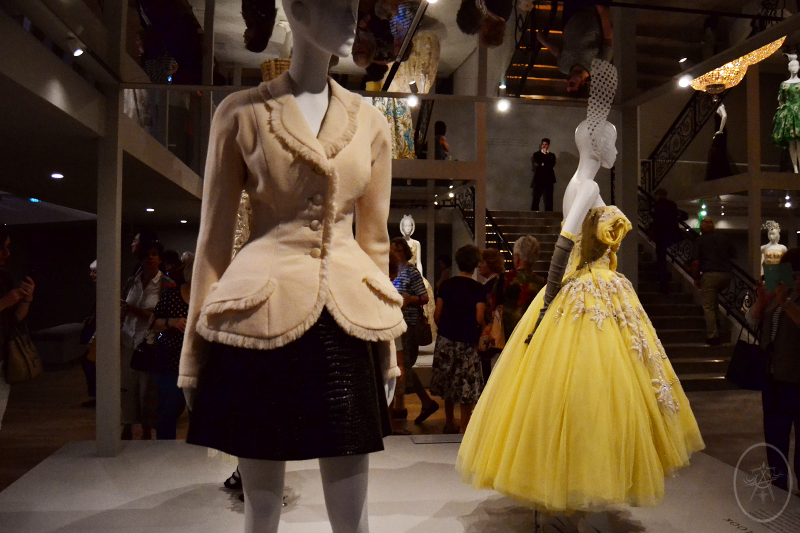 Modern take on the 1940's Bar Suit by Dior, at NGV International, Melbourne, Australia