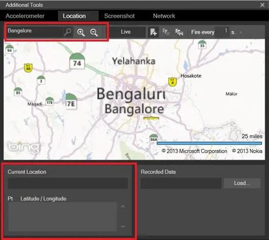 Testing the Location Aware App Using Location Simulator in WP8 SDK