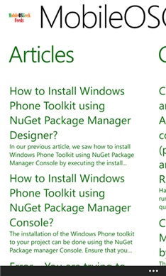 MobileOSGeek Feeds App for Windows Phone Released