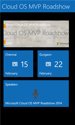 Cloud OS MVP Roadshow for Windows Phone 8