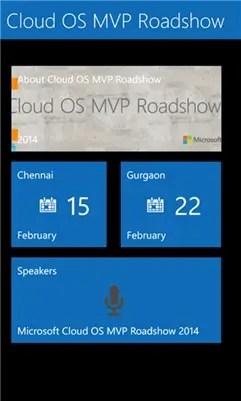 Cloud OS MVP Roadshow for Windows Phone 8