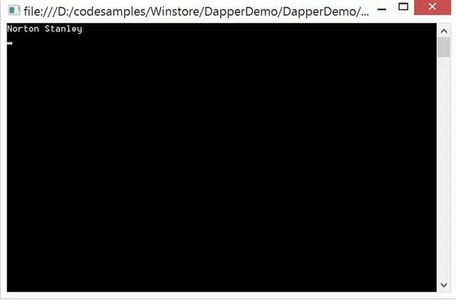 Dapper NET Guide - Get Single Record using Dapper