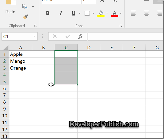 drop down box excel