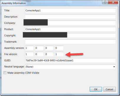 How to get the Assembly File Version in C# ?