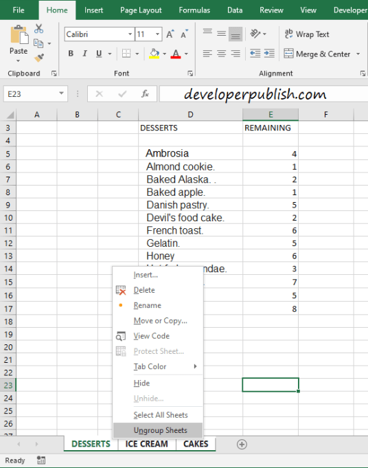 How To Group Worksheets In Microsoft Excel?