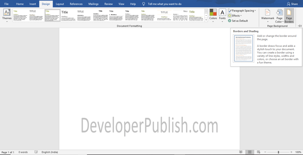 How to Add Border to a Page in Word?