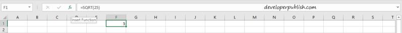How to find the square root of a number in Microsoft Excel?