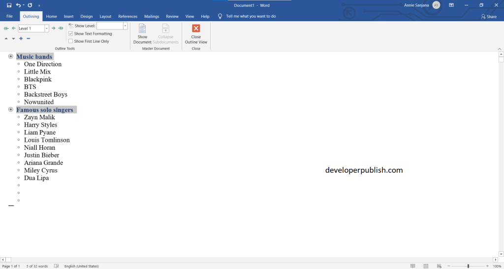 How to Create a PowerPoint presentation from an outline ?