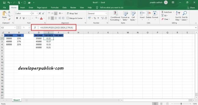 Income Tax Calculator in Excel