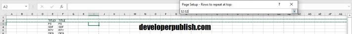 Set Print Titles in Excel